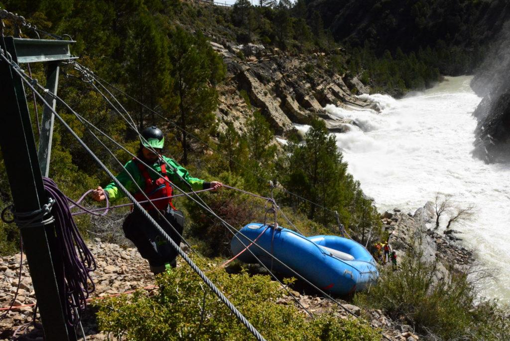 rafting cañón del río Gállego