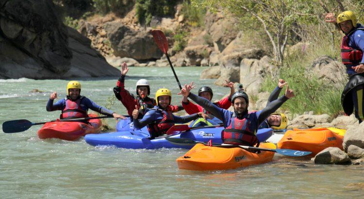 curso de kayak río Gállego